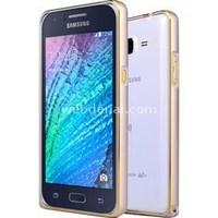 Microsonic Samsung Galaxy J1 Thin Metal Çerçeve Kılıf Gold