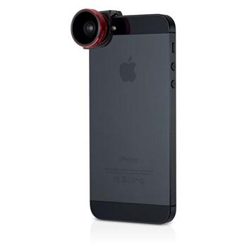 İphone 5 Ve İphone 5S İçin Olloclip 4-In-1 Fotoğraf Lensi Red