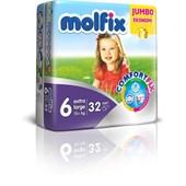 Molfix Jumbo Paket Extra Large 6 Numara Bebek Bezi 32 Adet