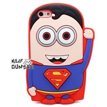 İphone 5s Kılıf Silikon Süper Kahramanlar 3d Superman