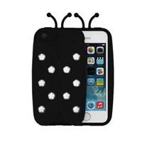 iPhone 6 Kılıf Led Lighting Bug Led Işıklı Kapak Siyah