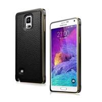 Microsonic Derili Metal Delüx Samsung Galaxy Note 4 Kılıf Siyah