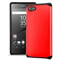 Microsonic Sony Xperia Z5 Compact (z5 Mini) Kılıf Slim Fit Dual Layer Armor Kırmızı
