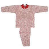 Sebi Bebe 51218 Patiksiz Bebek Pijama Takımı Kırmızı 6-9 Ay (68-74 Cm) 33442807