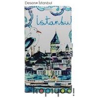 iPhone 6 4.7 Kılıf BHR İstanbul Desenli Kapaklı Cüzdan