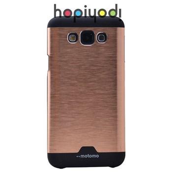 Samsung Galaxy E7 Kılıf Motomo Arka Kapak Altın