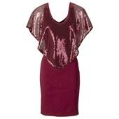 BODYFLIRT boutique Payetli elbise - Kırmızı 24487058
