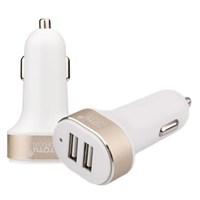 Totu Design Dual Port USB Araç Çakmaklık Hızlı Şarj Cihaz Adaptörü 2100mA Beyaz