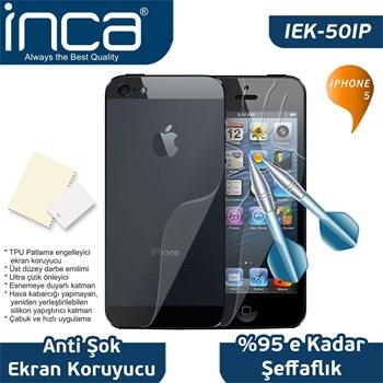 INCA iPhone 5 Uyumlu Çizilmez Anti-Şok Şeffaf Ekran Koruyucu IEK-50IP