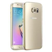 Microsonic Samsung Galaxy S6 Edge+ Plus Kılıf Ultra Thin Metal Bumper Gümüş