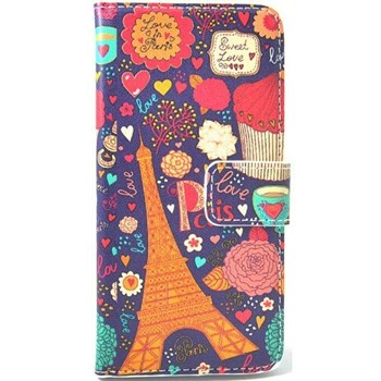 HTC One Mini Kılıf Cüzdan Sweet Love Paris Desenli