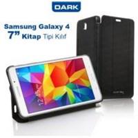 Dark Galaxy Tab4 T230 7- Uyumlu Akıllı Deri Kılıf Book Cover - Siyah