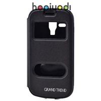 Samsung Galaxy Trend Kılıf Ekol Mıknatıslı Standlı Siyah