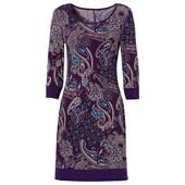 BODYFLIRT Tamamı desenli penye elbise - Lila 95974395 6191723889004