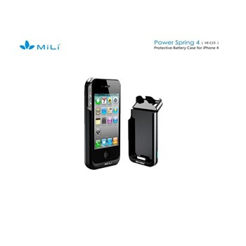 Mili İphone 4S Mili Power Spring-4 ( Hı-C23-1) Bataryalı Kılıf