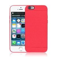 Microsonic Dot Style Silikon Iphone 6 Plus 5.5'' Kılıf Kırmızı