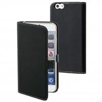Muvit Slim Folio Kapaklı iPhone 6/6S Kılıf ve Standı (Siyah)