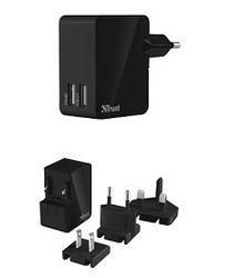 Trust Çift USB'li Uluslararası Duvar Şarj Cihazı