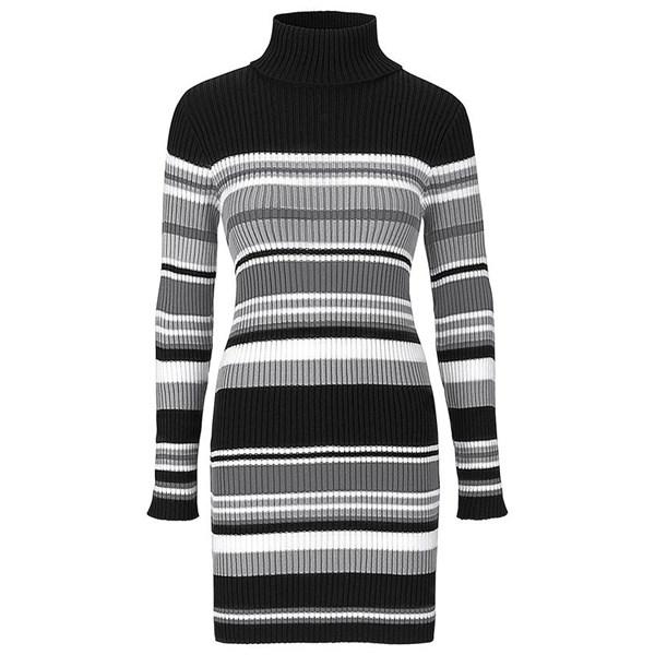 BODYFLIRT Örgü elbise - Siyah 93700395 6111250651264