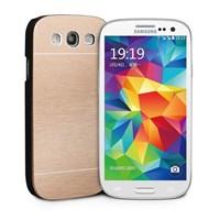 Microsonic Samsung Galaxy S3 Kılıf Hybrid Metal Gold