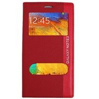 Magnum Galaxy Note 3 Magnum Pencereli Kılıf Kırmızı MGSBJKLY236