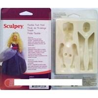 Scupley Sculpey Flexible Push Mold Esnek Model Kalıbı Kadın Figürü THTAPM71