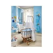 Bebedecor Ege Beşik Ceviz Mobilya - Mavi Tekstil
