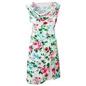 BODYFLIRT Penye elbise - Beyaz 91634695 8699067728037