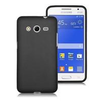 Microsonic Transparent Soft Samsung Galaxy Core 2 Kılıf Siyah