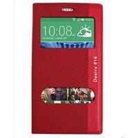 Magnum HTC Desire 816 Magnum Pencereli Kılıf Kırmızı MGSKLPTWY78