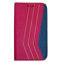 Color Case HTC One M8 Gizli Mıknatıslı Kılıf Pembe MGSBDFHLWXY