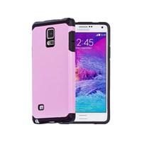 Microsonic Slim Fit Dual Layer Armor Samsung Galaxy Note 4 Kılıf Pembe