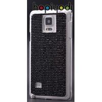 Samsung Galaxy Note 4 Kılıf Taşlı Arka Kapak Siyah