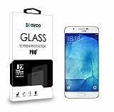 Eiroo Samsung Galaxy A8 Tempered Glass Cam Ekran Koruyucu