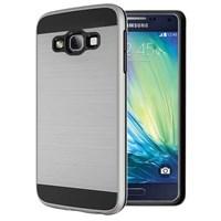 Microsonic Samsung Galaxy A7 Kılıf Slim Heavy Duty Gümüş CS300-SHD-GLX-A7-GMS