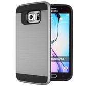 Microsonic Samsung Galaxy S6 Kılıf Slim Heavy Duty Gümüş CS300-SHD-GLX-S6-GMS