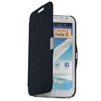 Microsonic Mıknatıslı Ultra Thin Kapaklı Samsung Galaxy Note2 Kılıf Siyah