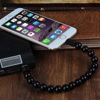 Yeni Trend Bileklik Şarj Ve Data Kablosu Android-Siyah