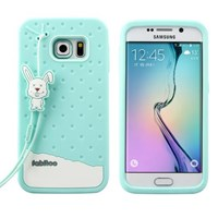 Fabitoo Samsung Galaxy S6 Edge Candy Kılıf Turkuaz
