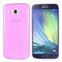 Soft TPU Galaxy A3 Ultra Slim Silikon Kılıf Pembe MGSBFGX2478