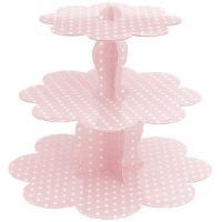 Roll-Up Puantiyeli Cupcake Standı Pembe Tm-Kgt-0152