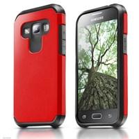 Microsonic Samsung Galaxy A7 Kılıf Slim Fit Dual Layer Armor Kırmızı