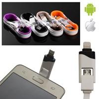 Apple ve Android Uyumlu Data ve Şarj Kablosu 2si 1 Arada Tek Kablo