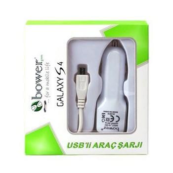 Bower Çakmak Girişli USB'li Samsung Galaxy S4 Araç Şarj Aleti