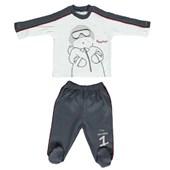 Bebetto F722 Mini Pijama Takımı Antrasit 6-9 Ay (68-74 Cm) 33442656