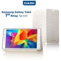 Dark Galaxy Tab4 7- T230 Uyumlu Akıllı Deri Kılıf - Book Cover - Beyaz