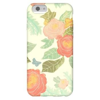Agent18 Pastel Çiçekler iPhone6 Telefon Kılıfı