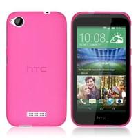 Microsonic HTC Desire 320 Kılıf Transparent Soft Pembe