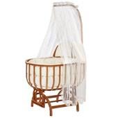 Baby Tech 112 Saraylı Ahşap Bebek Beşiği Naturel 30166137