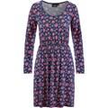 bpc bonprix collection Streç penye elbise, uzun kollu - Mavi 32664989